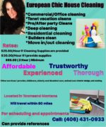 European Chic House Cleaning