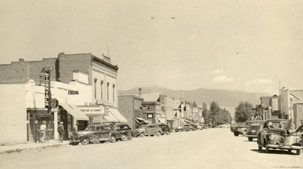 Main St Townsend 1940s 600